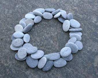 50 Craft Pebbles, Beach Pebbles, Flat Pebbles, Beach Stones, Smooth Pebbles, STONE BUTTONS, Small Round Pebbles, Tiny Pebbles, Small Stones