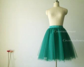 Green Tulle Skirt/Women Tulle Skirt/ Women Tulle skirt/ Short Tulle skirt/Wedding Dress Underskirt/ /Bridesmaid/Bachelorette TuTu