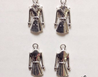 5 trench coat charms - SCC107