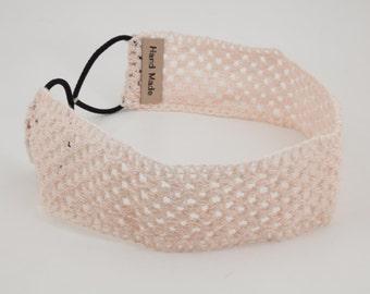 Crochet Cotton Mesh Elastic Headband