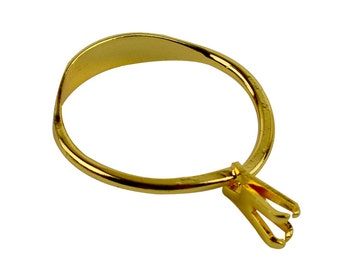Spring Type Stone Holder Display Jewelry Tool in Golden - HOLD-0027