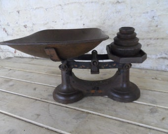 Cast iron vintage scales with weights