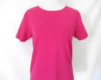 Fuchsia pink shirt | Etsy