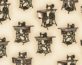 CLEARANCE Sewing With Singer Fabric Antique Singer Sewing Machines Robert Kaufman Cotton