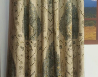 Richloom Aubusson Blend Sahara Designer Drapes and Valances. (SOLD IN PAIRS)