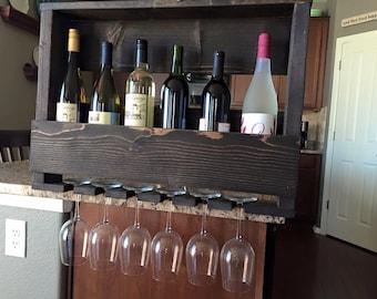 Wine Rack with stem holder
