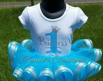 1st birthday princess tutu; Size 9-12mos, ready to ship