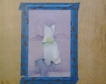 Water color painting of a cat