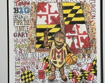 University of Maryland Basketball Print
