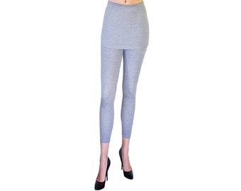 Grey Skirted Leggings, PM-106