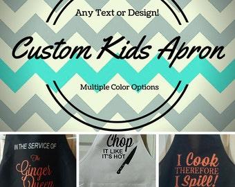 Custom Kids Apron/Design Your Own Apron/Create Your Own Kids Apron/Personalized Apron for Kids/Childrens Apron Gift/Childrens Custom Apron