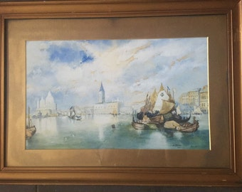 Wonderful Watercolour Of Venice Dated 1909 by J Northmore