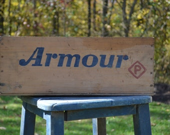 Vintage Armour's Star Roast Beef Wooden Advertising Box