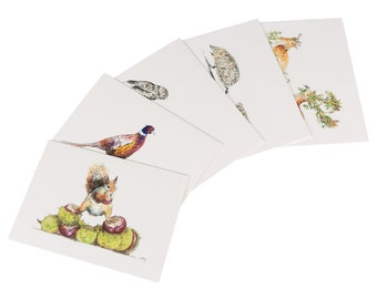 Autumn Animals Mixed Note Cards
