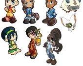 Avatar: The Last Airbender and Korra Art Stickers