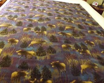 Fleece Blanket, Twin, Moose Herd