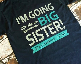 Big sister shirt onesie Big sister to be shirt  Going to be a big sister