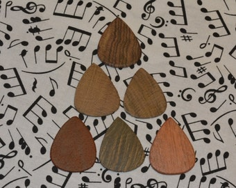 6 Pack Exotic Wood Guitar Pick (Pack C)
