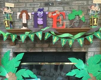 Tarzan themed kids letters