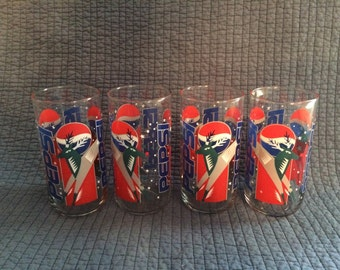 4 Pepsi Holiday Reindeer Glasses/Libby Drinking Glasses