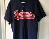 Vintage 90's Cleveland Indians Stitched Baseball Jersey.