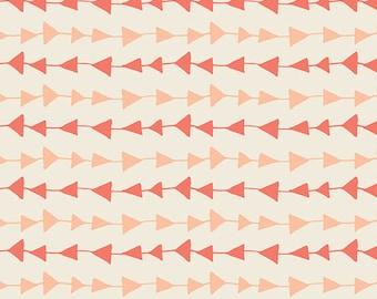 SALE!! 1 Yard- Hello, Bear by Art Gallery Fabrics- Follow Me Peach-4436