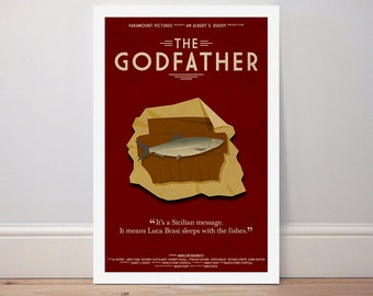 Movie poster 'The Godfather' colour print