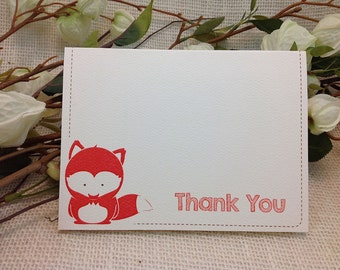 Thank You Cards // A2 Broadfold Baby Woodland Fox  - Get Started Deposit or DIY Payment