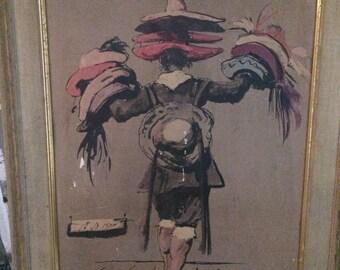 """Eugene Berman """"The Mexican Hatseller"""" 1939"""