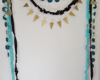 Wild One Tribal Arrow Fringe Party Garland Backdrop