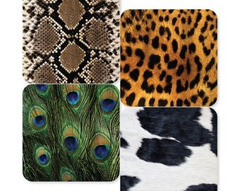 Animal Print Coasters (Set of 4)