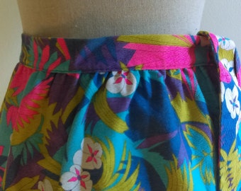 Vintage Floral Vogue California Maxi Skirt.