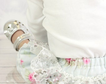 """Frilly Milly ruffle nappy cover pants """"Dottie Rose"""" Tanya Whelan"""