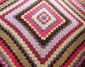 Granny square blanket made from 100% alpaca wool crochet blanket
