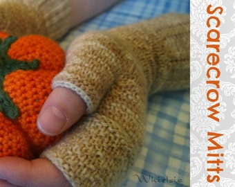 SCARECROW MITTS Knitting Pattern