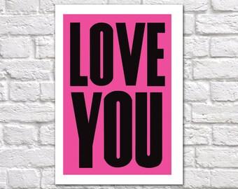 I Love You Card | Love You Card | Romantic Card | Love You
