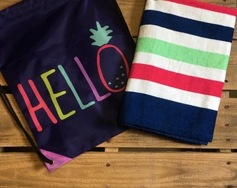 Girls Personalized Beach Towels