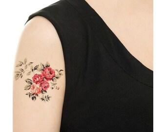 Temporary Tattoo - Vintage Rose