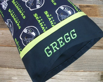 Personalized Seahawks Pillow/Seattle Seahawks TRAVEL Size Pillow