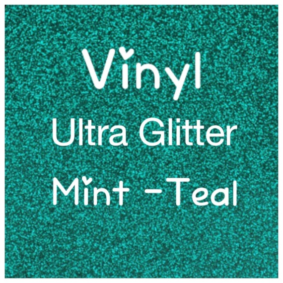 Glitter Adhesive Craft Vinyl Ultra Mint Teal Turquoise