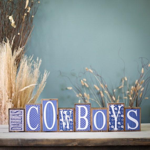 Home Decor Wood Blocks Dallas Cowboys Cowboys by 417designsIA