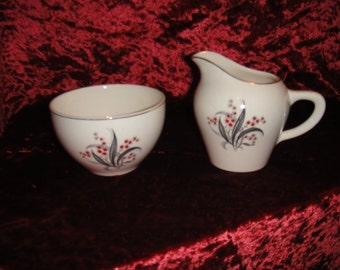 Wedgwood & Co WW 4 Pattern Sugar Bowl with Lid and Creamer
