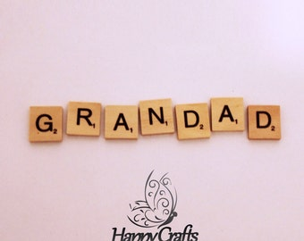 Wooden Letter Magnet Grandad Set of 7