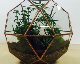Glass terrarium, wedding decoration, indoor garden, Large glass globe container, geometric sphere, wedding centrepiece card holder