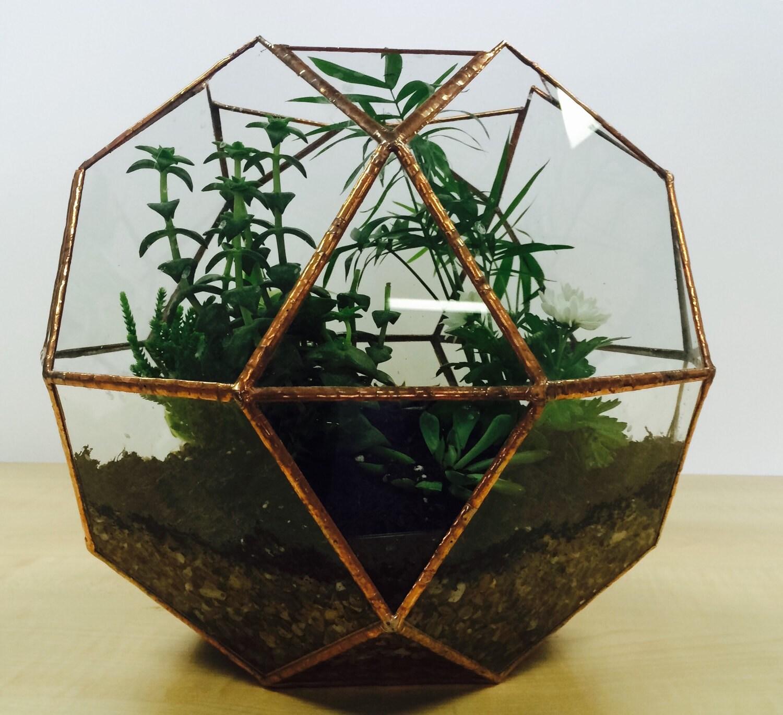 Glass terrarium wedding decoration indoor garden large for Indoor gardening glasses