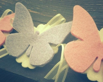 Butterfly Magnet-Favors with butterfly-communion favors-Birth favors-baby favor-mark place for ceremony