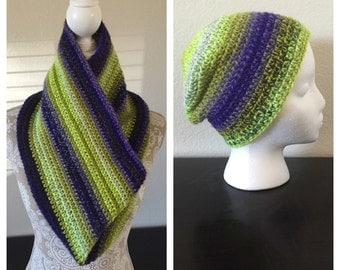 Woman's Hat & Cowl Set, Crocheted.