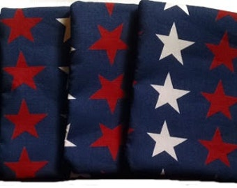 Red & White Stars with Navy Blue Cornhole Bags
