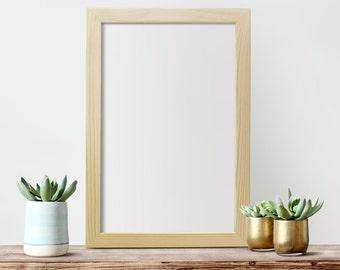 """11x17x1.25""""  Frame Glass & Backing Unfinished Wood Frames 11x17 Poster Frame  Art Frame Photo Frame"""
