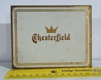 Vintage Chesterfield Cigarette Tin FREE SHIPPING